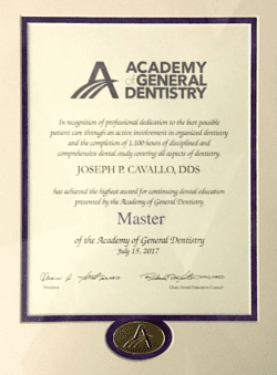 Joseph Cavallo master of general dentistry